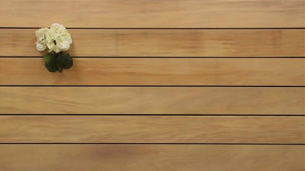 Angebot des Monats, Holzterrasse Garapa, glatt, 21 x 145 bis 6100 mm Dielen, Premium (KD) Holz Bretter für die Terrasse