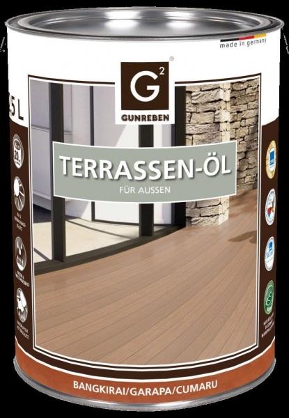 Garapa Öl von Gunreben, 2,5 Liter Holzterrassen Öl, empfohlen für ca. 20-25 m²