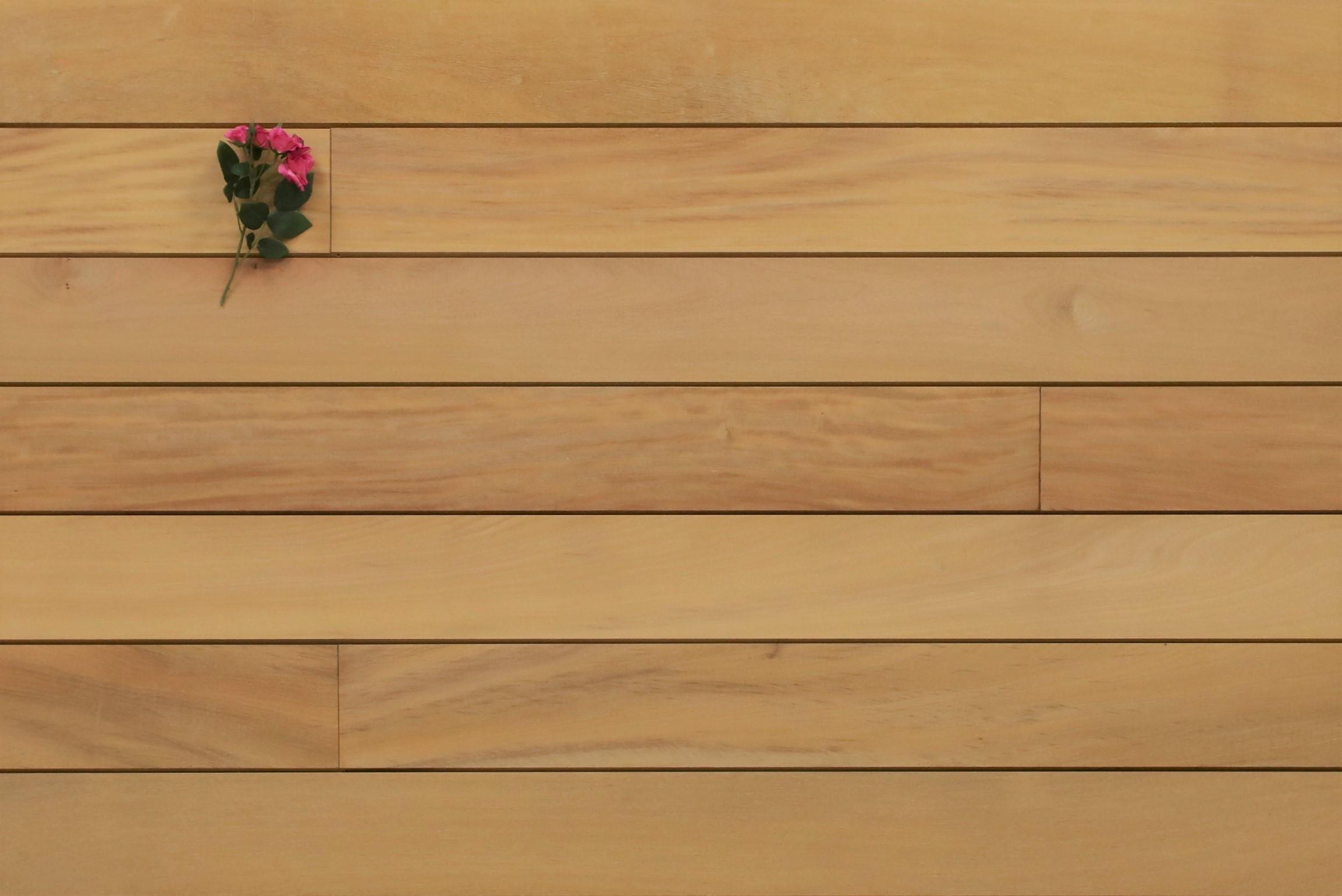 Holzterrasse Garapa, glatt, mit Wechselfalz und stirnseitig Nut / Feder Verbindung, 21 x 125 bis 2750 mm Dielen, Premium (KD) Holz Bretter für die Terrasse, 8,90 €/lfm