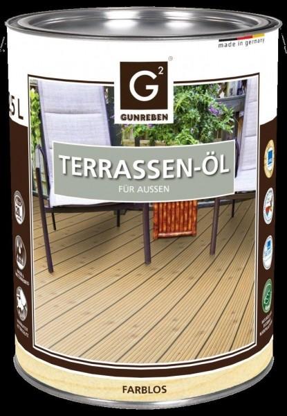 Natur Öl von Gunreben, 2,5 Liter Holzterrassen Öl, empfohlen für ca. 20-25 m²