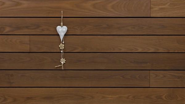 Holzterrasse Thermoesche, glatt, stirnseitig Nut / Feder Verbindung, 21 x 130 von 1800 bis 3000 mm Dielen, Premium (KD) Holz Bretter für die Terrasse