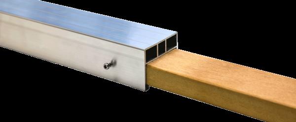 Hartholz Steckverbindung für 38 x 58 mm Alu Unterkonstruktion