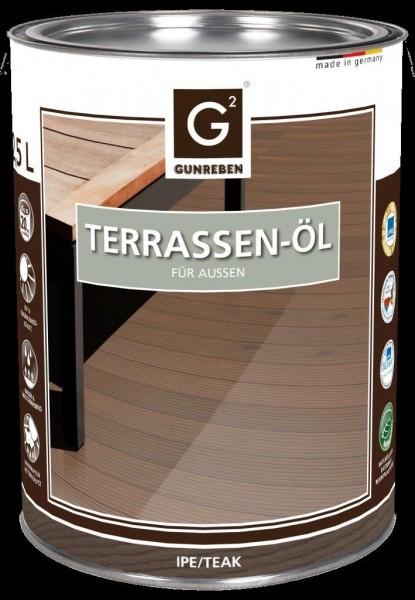 Ipe Öl von Gunreben, 2,5 Liter Holzterrassen Öl, empfohlen für ca. 20-25 m²