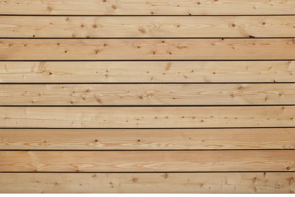 Sibirische Lärche Terrassendielen, glatt, B Sortierung, 45 x 140 bis 6000 mm für 8,90 €/lfm