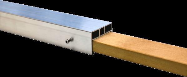 Hartholz Steckverbindung für 24 x 58 mm Alu Unterkonstruktion