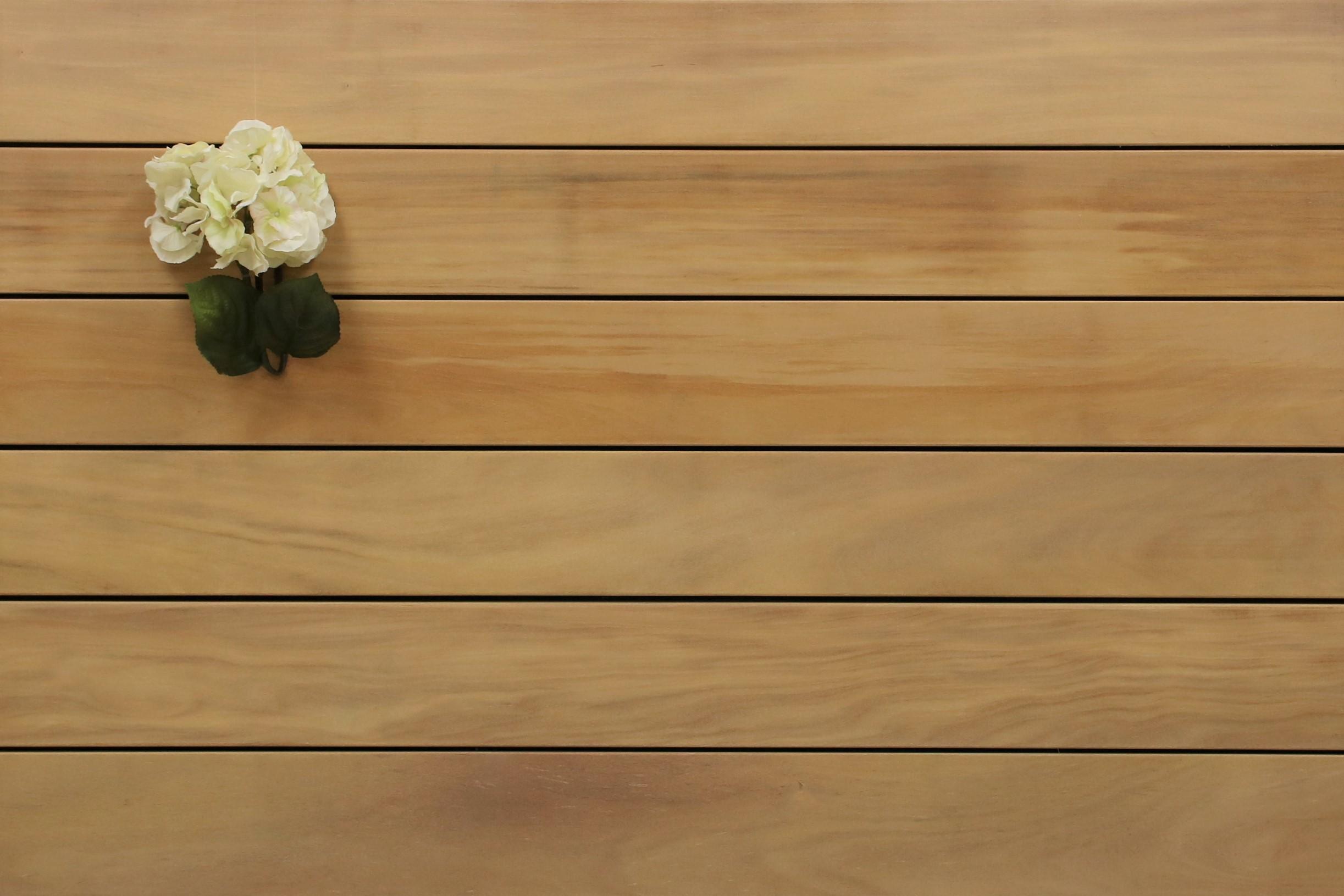 Angebot des Monats, Holzterrasse Garapa, glatt, 21 x 145 bis 6100 mm Dielen, Premium (KD) Holz Bretter für die Terrasse, 8,90 €/lfm