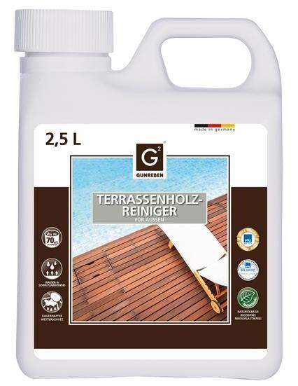 Holz Terrassen Reiniger von Gunreben, Kanister mit 2,5 Liter, empfohlen für ca. 20-80 m²